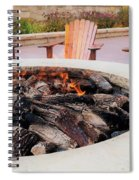 By The Fire Spiral Notebook
