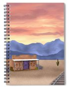 By The Tracks Spiral Notebook