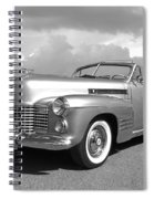 Bygone Era - 1941 Cadillac Convertible In Black And White Spiral Notebook