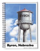 Byron Water Tower Poster Spiral Notebook
