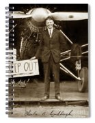 Charles A. Lindbergh And Spirit Of St. Louis 1927 Spiral Notebook