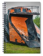 C And H Railroad Snowplow Spiral Notebook