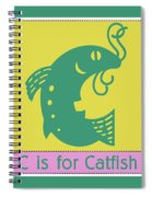 C Is For Catfish Kids Animal Alphabet Spiral Notebook