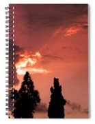 Cloud Anamoly Running Man Spiral Notebook