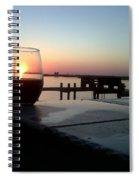 Cabernet Sunset Spiral Notebook