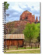 Cabin At Cathedral Rock Spiral Notebook