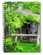 Cabin At The Top Mt Leconte Spiral Notebook