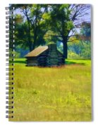 Cabin At Valley Forge Spiral Notebook