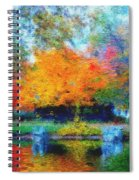 Cabin In Park Spiral Notebook