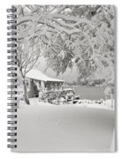 Cabin In Snow By The Sea Spiral Notebook