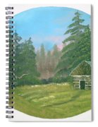 Cabin In The Meadow Spiral Notebook