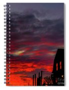 Cabin In The Shadows Spiral Notebook