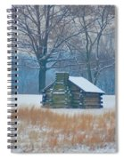 Cabin In The Snow - Valley Forge Spiral Notebook