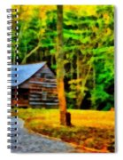 Cabin In The Woods Spiral Notebook