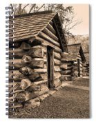 Cabins At Valley Forge In Sepia Spiral Notebook
