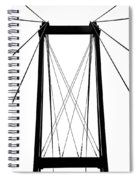 Cable Bridge Abstract Spiral Notebook