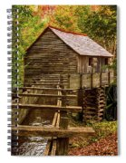 Cable Mill Cades Cove Smoky Mountains Tennessee In Autumn Spiral Notebook