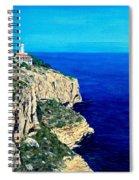 Cabo La Nao Lighthouse Javea Spain Spiral Notebook