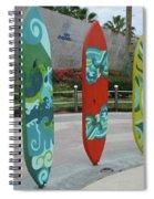 Cabo Surfboard Sculpture 1 Spiral Notebook