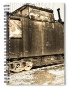 Caboose Black And White Spiral Notebook