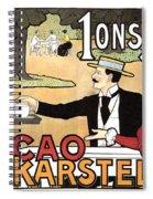 Cacao Karstel - Vintage Cacao Advertising Poster Spiral Notebook