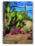 Cacti And Rock Spiral Notebook