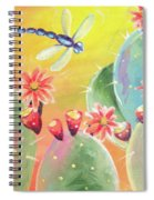 Cactus And Firefly Spiral Notebook