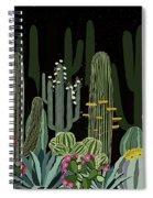 Cactus Garden At Night Spiral Notebook