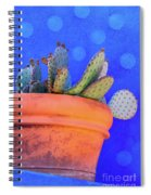 Cactus With Blue Dots Spiral Notebook