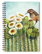 Cactus Wren And Saguaro Spiral Notebook
