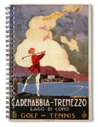 Cadenabbia Tremezzo, Golf And Tennis - Golf Club - Retro Travel Poster - Vintage Poster Spiral Notebook