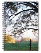 Cades Cove Autumn Morning Spiral Notebook