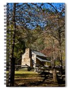 Cades Cove Early Settler Cabin  Spiral Notebook