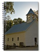 Cades Cove Methodist Church Aglow Spiral Notebook