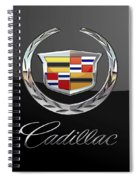 Cadillac - 3 D Badge On Black Spiral Notebook