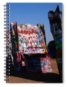 Cadillac Ranch On Route 66 Spiral Notebook