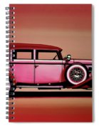 Cadillac V16 Mixed Media Spiral Notebook