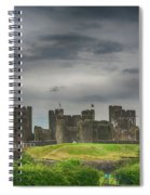 Caerphilly Castle East View 3 Spiral Notebook