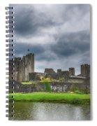Caerphilly Castle North View 3 Spiral Notebook