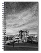 Caerphilly Castle Panorama Mono Spiral Notebook