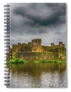 Caerphilly Castle South East View 1 Spiral Notebook