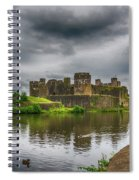 Caerphilly Castle South East View 2 Spiral Notebook
