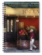 Cafe - Jolly Trolley Spiral Notebook