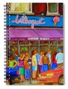 Cafe Bilboquet Ice Cream Delight Spiral Notebook