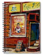 Cafe Bistro St. Viateur Spiral Notebook