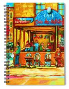Cafe Coin Des Artistes Spiral Notebook