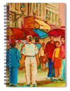 Cafe Crowds Spiral Notebook
