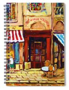 Cafe De Vieux Montreal With Couple Spiral Notebook