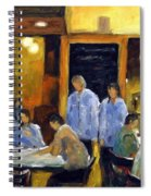 Cafe Des Artistes Spiral Notebook