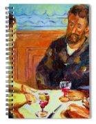 Cafe  Homage  De Pierre Auguste Spiral Notebook